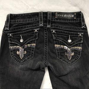 Rock Revival Jen Boot Sequin Pocket Jeans 28